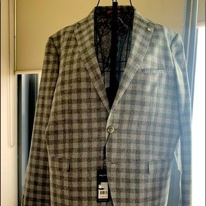 Me Grey checked Politix Suit BNWT